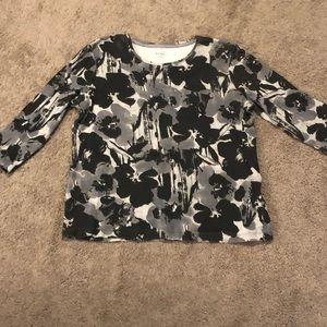 Abstract floral blouse